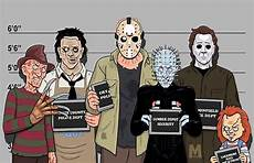 Horror Movie Body Count Chart Quot The Usual Suspects Slasher Films Quot Posters By Mazestudio