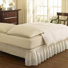 easy fit white 15 in bed skirt at lowes