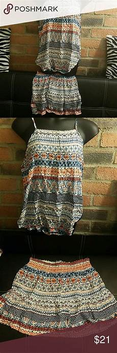 Aztec Design Skirts 2 Piece Skirt Set Yes Top And Bottom Together Aztec Design