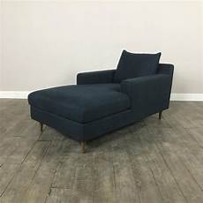 Navy Chaise Sofa 3d Image by Modern Navy Chaise Lounge Sofa Chairish