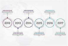Horizontal Timeline Template Horizontal Timeline Infographic Design Template Vector