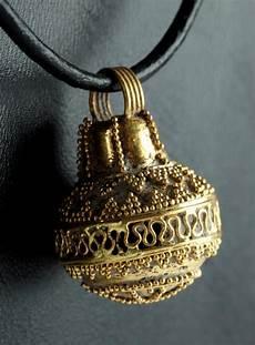 etruria oro etruscan 23k gold filigree pendant 5 2 g