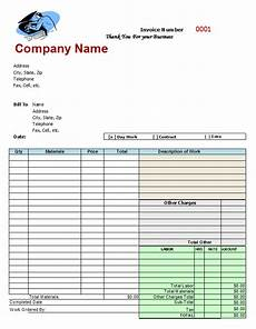 Automotive Receipt Mechanics Invoice Auto Repair Invoice Template