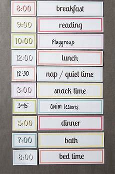 Printable Daily Schedule Kids Free Printable Setting Up A Simple Routine With Kids