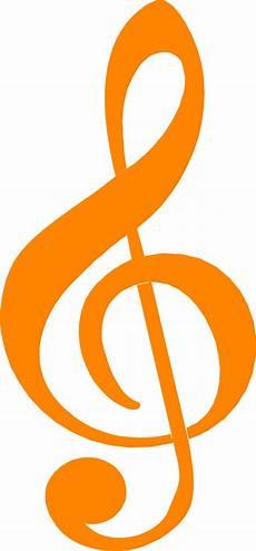 Treble Sign Treble Clef Free Stock Photo Illustration Of An Orange