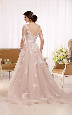 plus size tulle wedding dresses with illusion lace sleeves