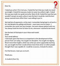 Thank You Letter To A Teacher How To Write Thank You Letter To Teacher How To Wiki