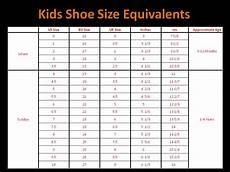 Shoe Conversion Chart Uk Qatique Closet Childrens Shoe Size Chart