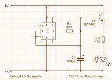 Up Down Fading Led Lights Using Flip Flops Capacitor How Does This Circuit Work To Fade An Led In