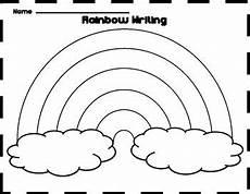 Rainbow Printable Template Free Rainbow Writing Template Rainbow Writing Rainbow
