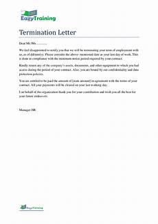 Termination Employee Letter Termination Letter Template Format For Employee On