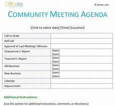 Community Meeting Agenda 20 Best Images About Agenda Templates Dotxes On