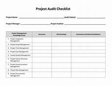Project Management Audit Checklist Project Audit Checklist