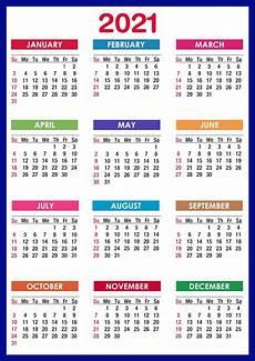 C Alendar 2021 Calendar Printable 12 Months All In One Calendar 2021