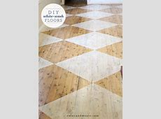 #DIY white washed checkered floorboards via #emmyandmouse   DIY   Pinterest   White washed floors