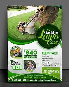 Landscaping Flyer Design Serious Modern Landscaping Flyer Design For Mr Gaddys
