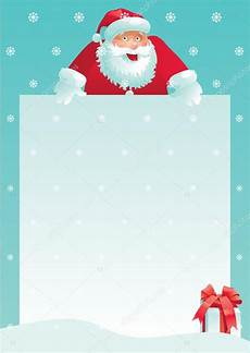 Christmas Letter Backgrounds Santa Claus And Gift Box With Christmas Letter Stock