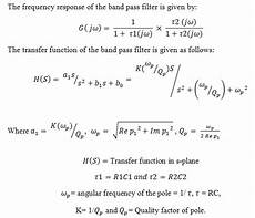 Band Pass Filter Equation Passive Band Pass Filter Circuit Design And Applications