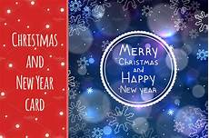 New Year Card Photo Christmas And New Year Greeting Card Card Templates