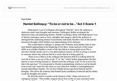 Hamlet Literary Analysis Essay To Be Or Not To Be Hamlet Soliloquy Analysis A Level