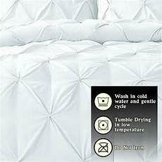 1000 tc cotton pinch pleated duvet cover set cal
