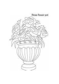 Ausmalbilder Blumenvase Ausmalbilder Blumenvasen2 Blumenzeichnung Blumen Vase