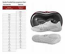 Nfinity Vengeance Cheer Shoes Sizing Chart Nfinity Vengeance Cheerleading Shoes Cheerleading