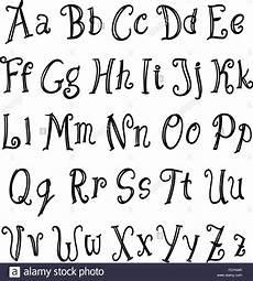 lettering alphabet set black on white vector stock