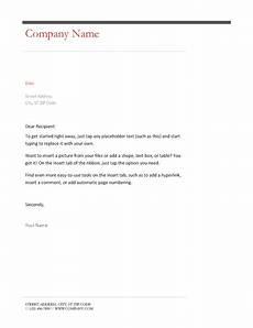 Simple Business Letter Business Letter Simple Design