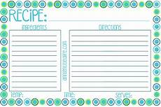Recipe Cards Printable Free Printable Recipe Card Meal Planner And Kitchen Labels