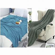 cable knit sherpa throw blanket sofa home decor 100 cotton