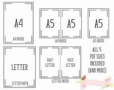 Letter Size Paper Dimensions Habit Printable Planner Insert Pages A4 Letter A5 Half