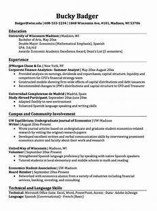 How To Write A Resumes Double Major Economics Resume Sample 이미지 포함
