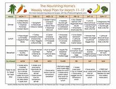 Meal Planner With Nutritional Information Meal Plan Monday March 4 17 The Nourishing Home