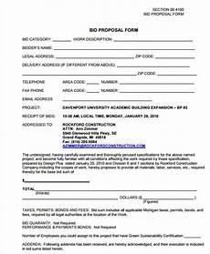 Contractor Bid Template Free 7 Free Contractor Bid Form Examples Pdf Examples