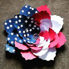 Paper Flower Template Patriotic American Flag Paper Flower Step By Step With