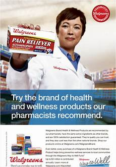 Advertisement For A Product Walgreens To Focus On Its Brand Of Health Products The