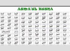99 Asmaul Husna (Nama Allah), Lengkap dengan Tulisan Arab