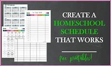 Create A Schedule Create A Homeschool Schedule That Works Just A Simple Home