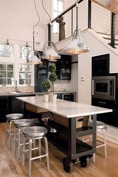 25 Portable Kitchen Islands Rolling Movable Designs Counter Height Island Table Rolling Design Among Modern