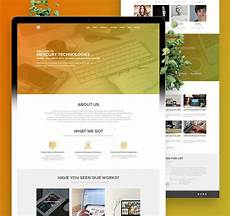 Single Page Website Templates Single Page Website Template Psd Download Psd