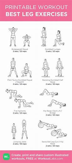 Best Leg Exercises My Custom Printable Workout By