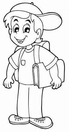 Schule Und Familie Malvorlagen Junior Kostenlose Malvorlage Schule Erstkl 228 Ssler Auf Dem Weg Zur