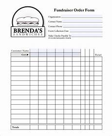 Fundraising Sheet Template 29 Order Form Templates Pdf Doc Excel Free