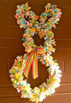 fabric crafts spring giggleberry creations fabric scrap easter bunny wreath diy