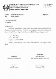 37 contoh surat undangan osis perusahaan sekolah rt