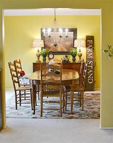 before and after dining room makeover at the picket fence