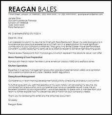 Chef De Partie Cover Letter Chef Cover Letter Sample Cover Letter Templates Amp Examples
