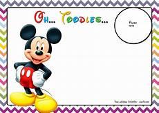 Custom Mickey Mouse Invitations Free Mickey Mouse Birthday Invitations Template Chevron