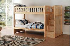homelegance bartly bunk bed with step